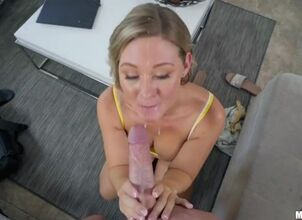 Cam girl facial