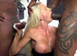 Mature milf interracial