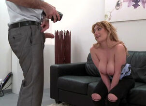 Backroom casting couch milf
