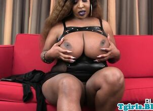 Mature shemale cum